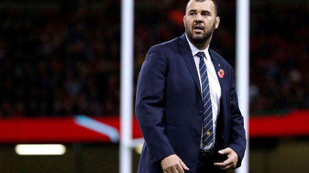 Rugby - 'Pass mark' blown, Australia boss Cheika under renewed pressure