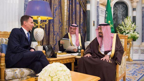 Hunt will press Saudi leaders over Khashoggi killing - May's spokesman