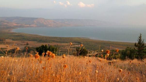 Une vue du lac de Tibériade en Israël, le 8 octobre 2018