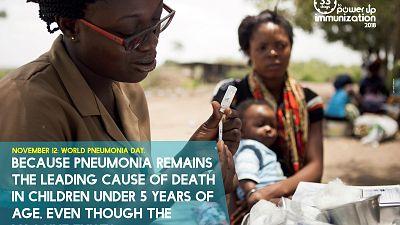 Journée Mondiale contre la Pneumonie: La pneumonie est la cause de 16% des décès d'enfants de moins de 5 ans dans le monde, alors qu'elle peut être prévenue et traitée