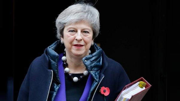 Theresa May le 31 octobre 2018 à Downing Street à Londres