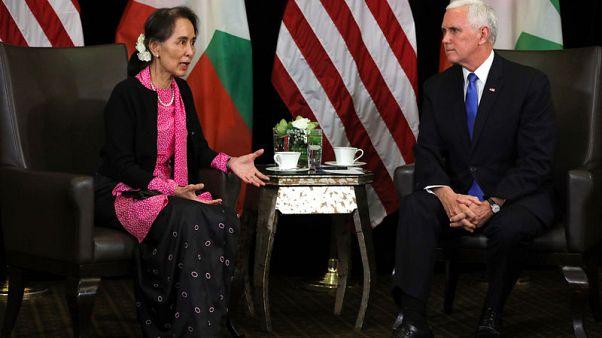 Pence tells Suu Kyi persecution of Rohingya inexcusable