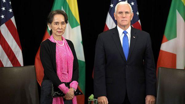 Pence presses Myanmar's Suu Kyi to pardon Reuters journalists - official