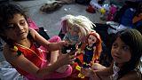 Pour les enfants de la caravane de migrants, les jouets pour s'évader