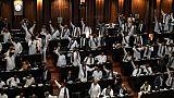 Des membres du Parlement sri-lankais à Colombo, le 14 novembre 2018