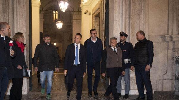 Vertice P.Chigi Conte, Di Maio, Salvini
