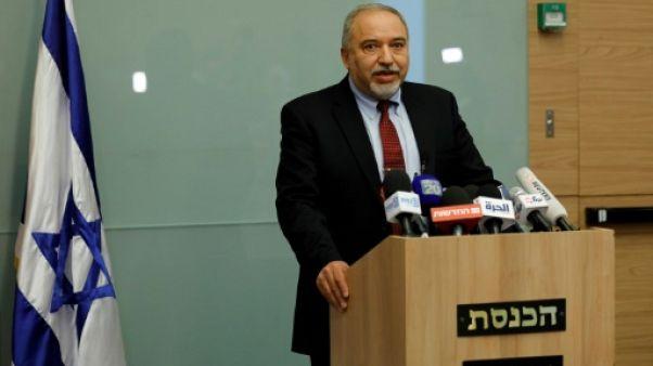 Israël: Lieberman, un chantre de la manière forte à l'épreuve de Gaza