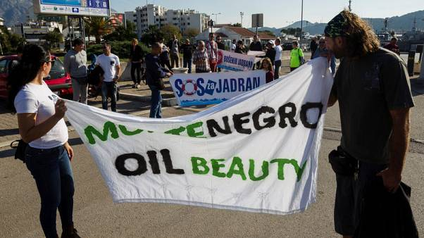 Montenegrin activists protest against Adriatic oil prospecting