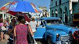 Un taxi dans une rue de La Havane, le 18 juillet 2018