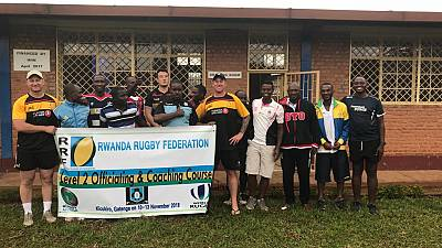 Rugby : Rwanda Referees, Coaches, and Silverbacks benefit from Penguin International Rugby Football Club (RFC) training