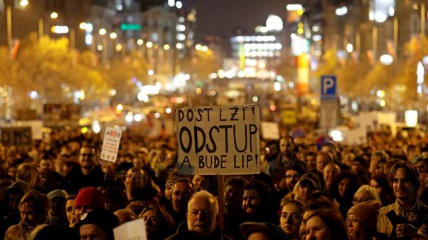Czechs protest against PM Babis, coalition partner may quit government