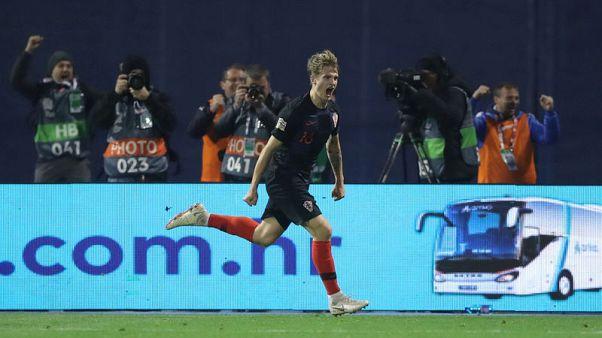 ثنائية يدفاي تقود كرواتيا للفوز 3-2 على إسبانيا في دوري الأمم