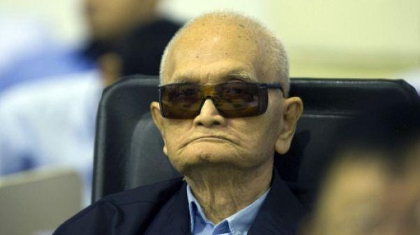 L'idéologue du régime khmer Nuon Chea, 92 ans, en 2014