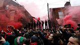 150 ألف يورو من نادي روما لمشجع ليفربول المصاب
