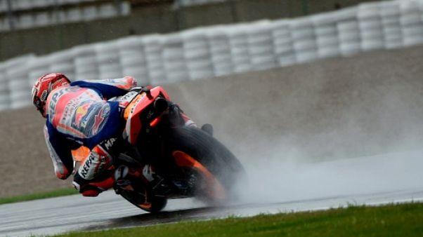 Moto: Marquez devant sous le déluge au GP de Valence lors des premières séances
