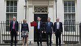 Stephen Barclay, à gauche, le 22 novembre 2017 devant le 11, Downing Street