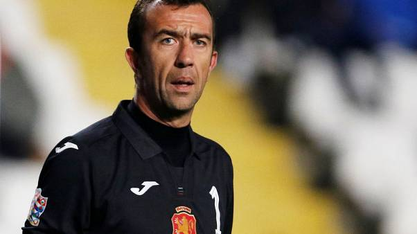 Goalkeeper Petkov becomes Bulgaria's oldest player