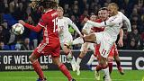 Denmark beat Wales 2-1 to claim Nations League promotion
