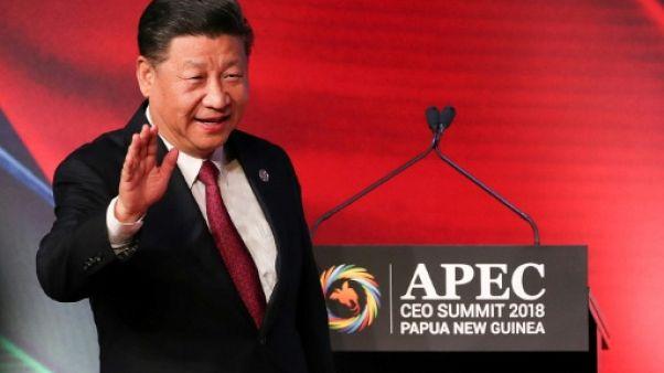Le président chinois Xi Jinping à Port Moresby le 17 novembre 2018