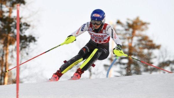 Slalom de Levi: Shiffrin domine la 1re manche