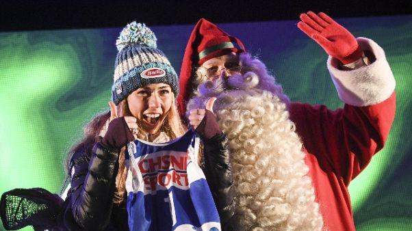 Cdm sci: Shiffrin vince slalom di Levi