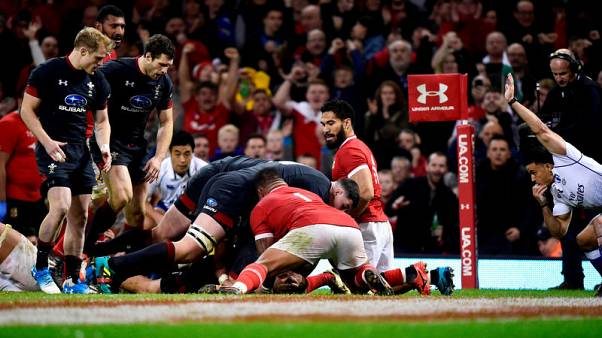 Wing Williams bags two tries in milestone test as Wales crush Tonga