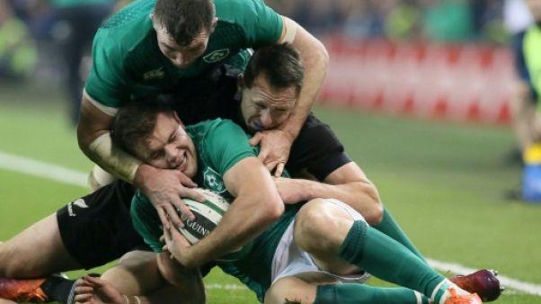 Rugby: l'Irlande bat la Nouvelle-Zélande pour la deuxième fois de son histoire (16-9)