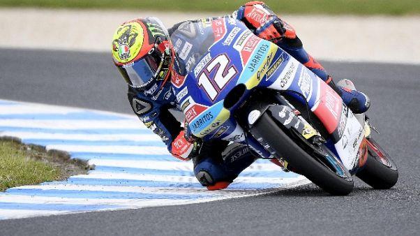 Valencia, Bezzecchi domina warm up Moto3
