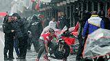 MotoGp, diluvio, gara sospesa a Valencia