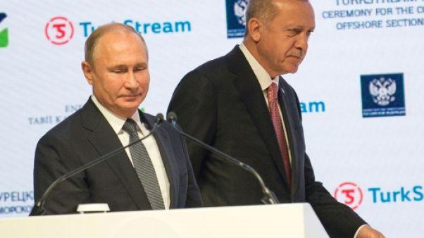 Erdogan et Poutine inaugurent un tronçon du gazoduc TurkStream