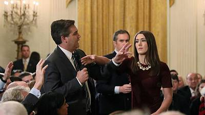CNN seeks hearing after White House again vows to yank reporter's access