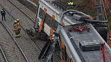 Train derails in north Spain, killing one, 44 hurt