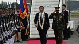 Le président chinois arrive aux Philippines, allié historique de Washington