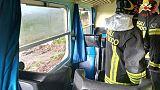 Tromba d'aria investe treno,feriti lievi