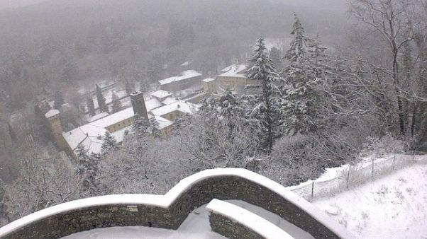 Maltempo,deboli nevicate su alto Mugello