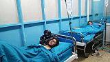 Des survivants blessés de l'attentat du 20 novembre 2018 à Kaboul.