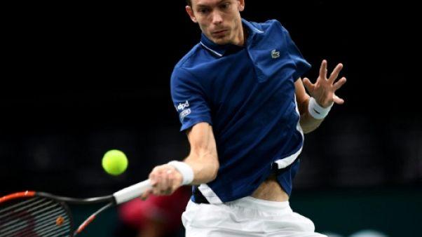 Le Français Nicolas Mahut lors du Masters 1000 de Paris le 29 octobre 2018