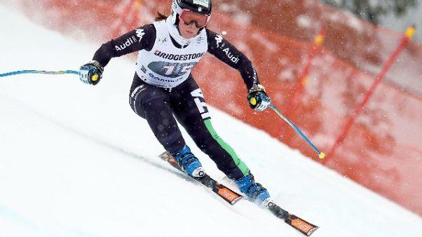 Sci: Elena Fanchini cade in allenamento