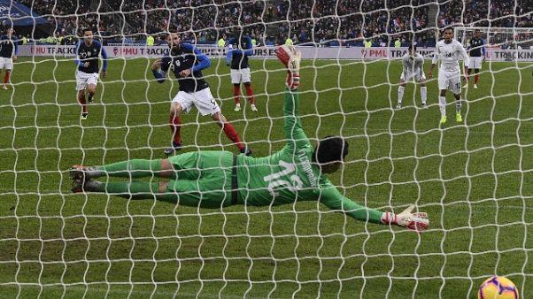 Francia batte Uruguay, gol di Giroud