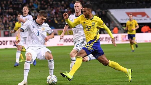 Sweden claim Nations League promotion with 2-0 win over Russia