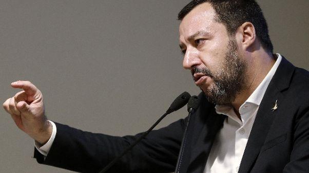 Matteo Salvini arriva in Sardegna