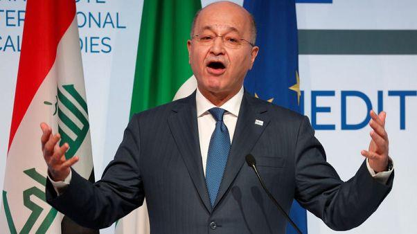 الرئيس العراقي يقول العراق سينشيء وكالة لإعادة الإعمار