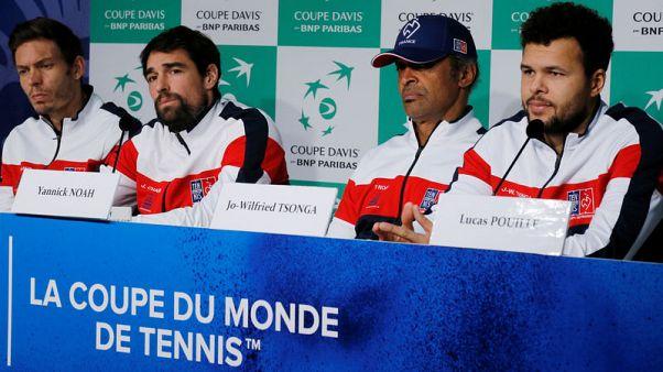 فرنسا تراهن على تسونجا وشاردي في الفردي بنهائي كأس ديفيز