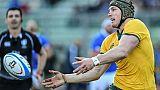 Rugby: Pocock finalement titulaire avec l'Australie contre l'Angleterre