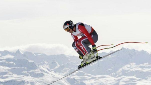 Le skieur canadien Erik Guay aux Mondiaux de St Moritz, le 12 février 2017