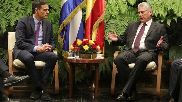 رئيس وزراء إسبانيا يتفق مع رئيس كوبا على توثيق العلاقات