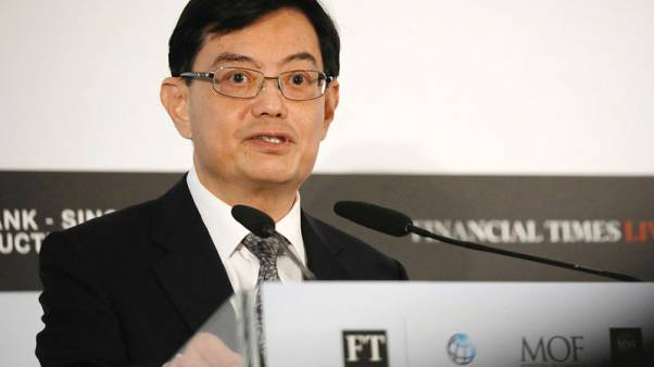 Singapore finance minister gets key party post, seen in line to be next PM