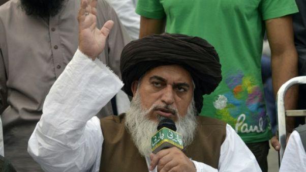 Khadim Hussain Rizvi, le chef du parti islamise Tehreek-e-Labaik Pakistan
