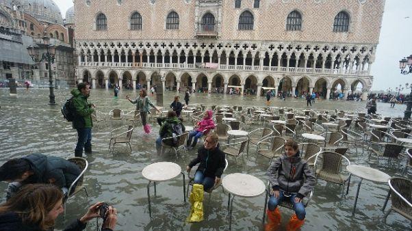 Marea tocca a Venezia i 114 centimetri
