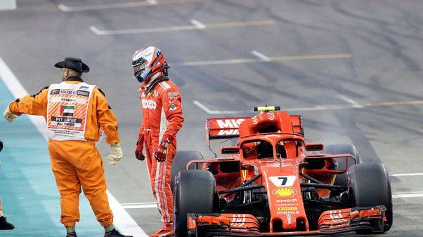Motor racing - Raikkonen retires from final race for Ferrari